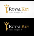 royal key logo vector image