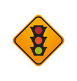 semaphore traffic lights warning sign vector image vector image