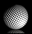 set abstract halftone 3d spheres 21 vector image vector image