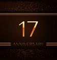 seventeen years anniversary celebration logotype