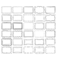 Simple doodle sketch square frames vector image