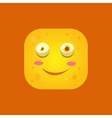 Smiling Yellow Monster Emoji Icon vector image vector image