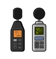 Sound Level Meter Set on White Background vector image vector image