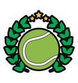 tennis ball wreath award sport vector image vector image