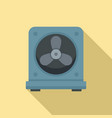 thermostat fan icon flat style vector image vector image