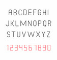 thin font vector image vector image