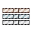 three vintage stripes five frames 35 mm film vector image vector image