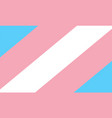transgender flag icon vector image vector image