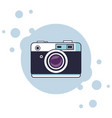 vintage camera cartoon vector image