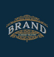 vintage luxury logo template design for label vector image vector image