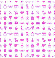 wedding outline icons seamless pattern background vector image vector image