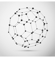 Wireframe polygonal element vector image