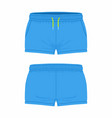 womens blue sport shorts vector image vector image