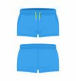 womens blue sport shorts vector image