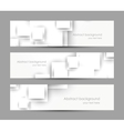 Set of banners with white squares vector image