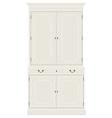 White vintage cabinet vector image