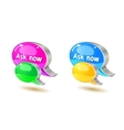 colorful help bubble chat icon vector image