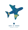 abstract fabric triangles airplane silhouette vector image vector image