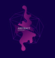 abstract polygonal object and splashes in the vector image vector image