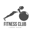 Aerobic workout logo vector image