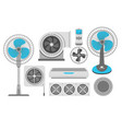 air conditioning fan and industrial ventilation vector image