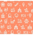 Amusement Park Background Pattern vector image vector image