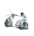 athletes with physical disabilities - fencing vector image vector image