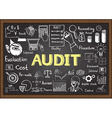 audit on chalkboard vector image vector image
