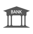 Bank button on white vector image vector image