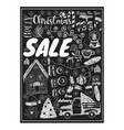 banner of christmas sale with elements vector image