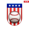 baseball badge and label with usa flag vector image vector image