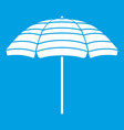 beach umbrella icon white vector image vector image