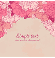 Beautiful background with peonies in vintage style vector image