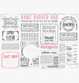 burger placemat on craft paper vector image vector image