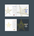 business brochure design with star symbol vector image