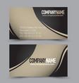 Business card design set template