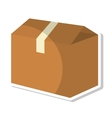 carton box packing isolated icon vector image vector image