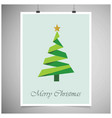 christmas card frame with tree vector image