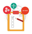 clipboard review call center support vector image vector image