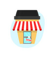 coffee shop in a paper cup of coffee vector image vector image