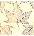 Colored art autumn maple leaves seamless pattern vector image vector image