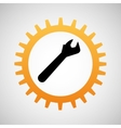 construction gear icon wrench vector image vector image