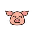cute face pig animal cartoon icon vector image