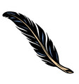dark feather colorful tattoo template vector image vector image
