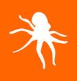 devilfish white icon vector image vector image