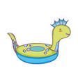 dinosaur float child icon vector image