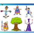 fantasy cartoon characters set vector image vector image