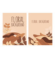 floral brown terra cotta pastel colored exotic vector image vector image