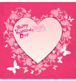flower frame heart card 380 vector image vector image