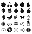 Fruits simple icons vector image